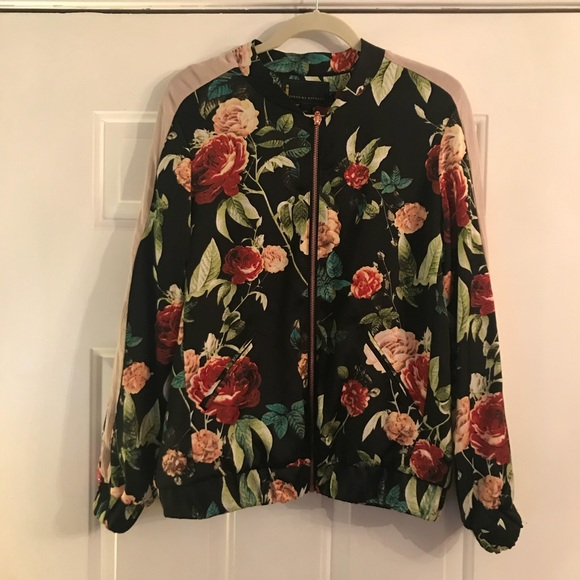 8a056339068c I Jeans by buffalo floral bomber jacket